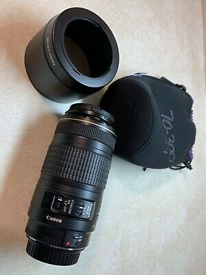 Canon EF 70-300mm f/4-5.6 AF IS USM Lens Excellent Condition