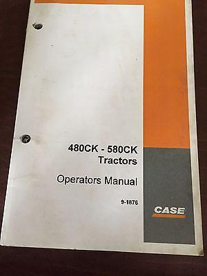 Case 580ck 480 580 Backhoe Loader Operators Manual