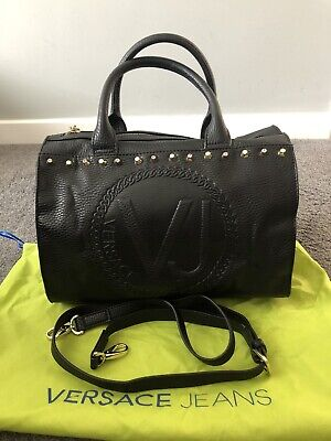 Versace Jeans Black Bag Genuine,used Once
