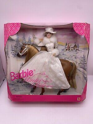 Vintage 1998 Barbie Winter Ride Gift Set Barbie and Horse Mattel #19850 NOS