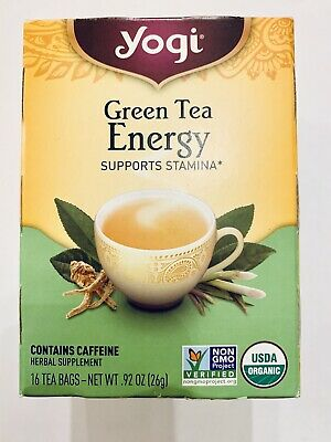 New Yogi Green Tea Energy , 16 Bags Discontinued Organic Best By