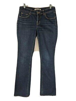 J Brand Womens 30x35 Cotton Stretch Curvy Slim Boot Leg Dark Blue Jeans *Damaged