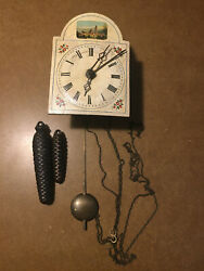 Antique German Wall Parlor Clock, As Is, Pferrei Wang