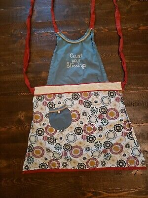 Count Your Blessings Embroidered Full Kitchen Apron W Pocket kay dee designs
