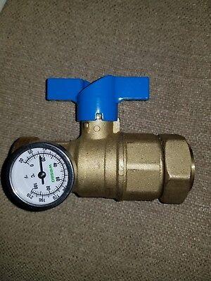 1 Uponor Wirsbo Truflow Manifold Ball Valve Temperature Gauge New Brass In Floor