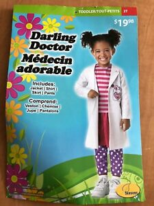 """Halloween Costume- """"Darling Doctor""""  (size-2T) BRAND NEW!"""