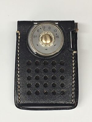 VINTAGE 50's RCA VICTOR TRANSISTOR POCKET RADIO MODEL 3 RH21G w/ ORIGINAL CASE ()