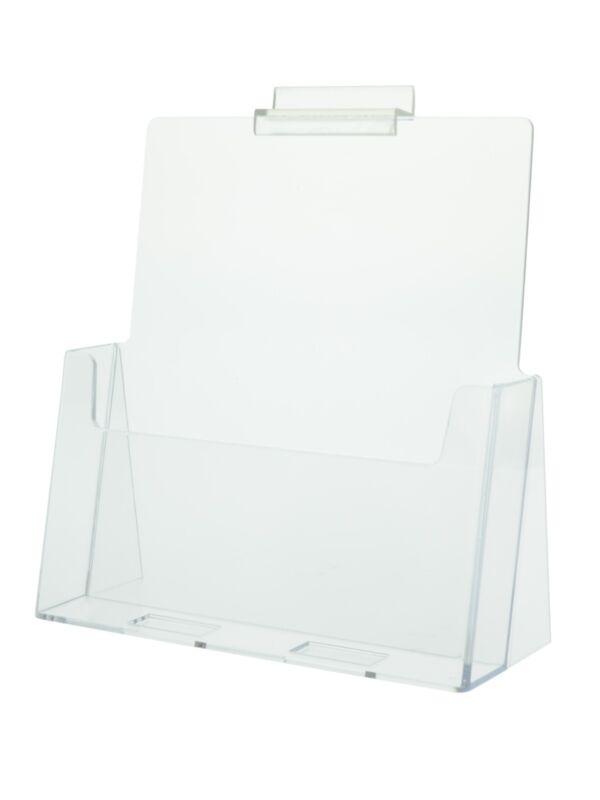 Slatwall or Countertop Brochure Holder 8.5 x 11 Magazine rack stand Qty 12