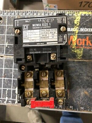 Square D Nema Size 1 Starter Class 8536 Type 5c03 Form S Series A Tested