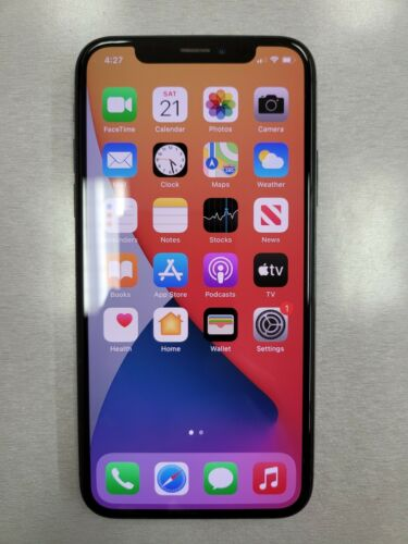 Apple IPhone X - 64GB - Space Gray Unlocked A1865 CDMA GSM  - $225.00