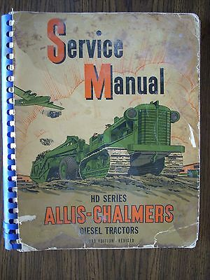 Allis Chalmers Hd Series Crawler Service Manual