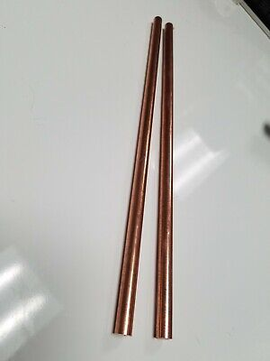 2 38 .375 Solid Copper Round Stock Bar Rod 12