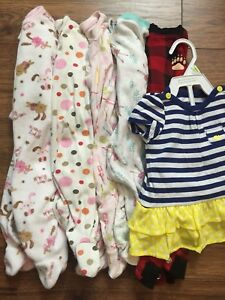 3-6m 5 sleepers & sundress