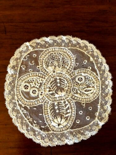"Normandy Lace Antique 6"" Doily"