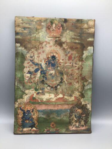 Antique Tibetan Thangka depicting Vajrakila, 18th / 19th century
