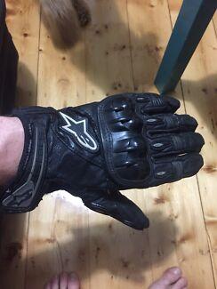 Alpinestars Large Leather Motorbike (Motorcycle) Gloves