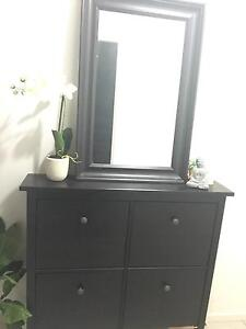 IKEA Hemnes shoe cabinet and mirror Griffin Pine Rivers Area Preview