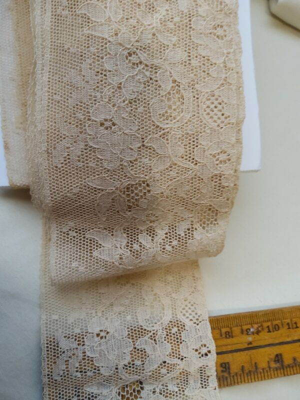 """Antique French Alencon? BEAUTIFUL! 2 3/4"""" Wide By the yard 5 yards avail"""