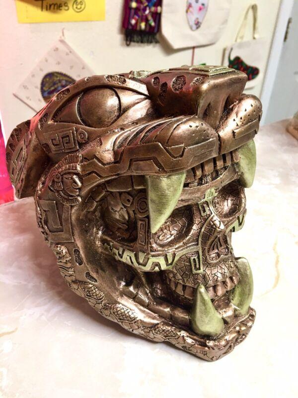 Jaguar Skull With Mayan Calendar