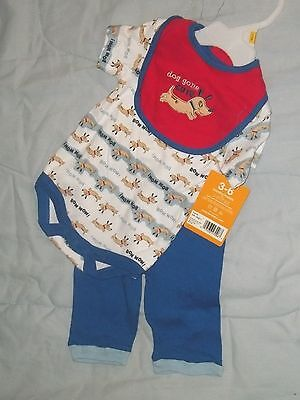 NEW BON BEBE  OUTFIT INFANT BOYS 3-6 MO'S - puppy