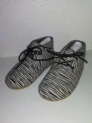 Zara Baby Boots Zebra Stripe Shoes NEW! Size 6