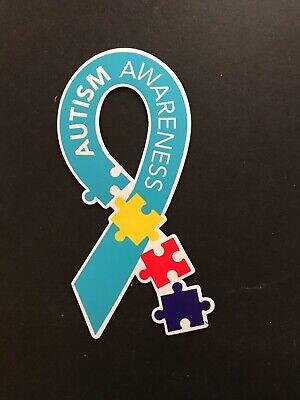 Autism Awareness Magnet Puzzle Piece Car Multi Colored Magnet Lot Of 3