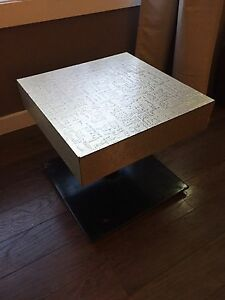 Vintage Side Table with Metal Base