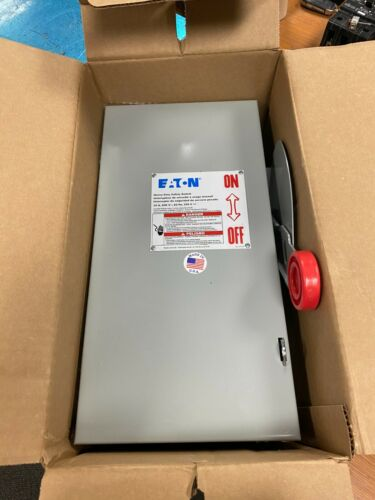 👀 NEW EATON 30 AMP FUSIBLE SAFETY SWITCH 600 VAC 3 POLE 20 HP 3 PH DH361FGK