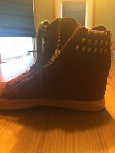 Betsey Johnson Suede Sneakers size 12