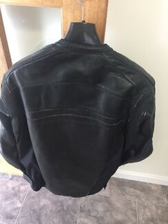 Leather motorcycle jacket men's XL