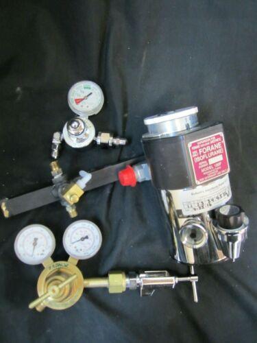 Isoflurane Anesthesia Vaporizer Model 100F w/ associated valves Veterinary Use