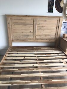 Queen bed frame and matching bed side table