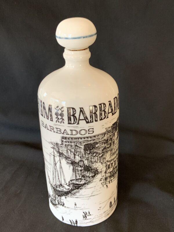 Barbados Rum  Porcelain Bottle Decanter Collectible