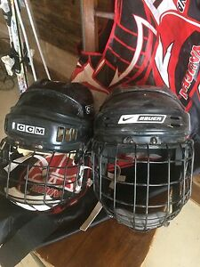 casques de hockey, but de mini hockey