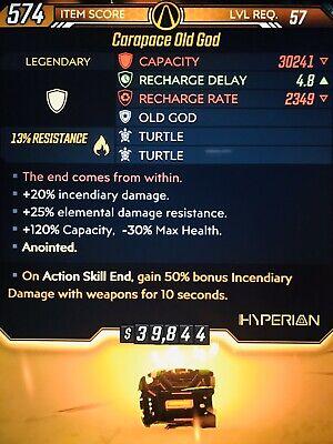 Borderlands 3 MAYHEM 10 BEST Carapace Old God Trip Turtle 50% Fire Level 57 (10 Best Xbox Games)
