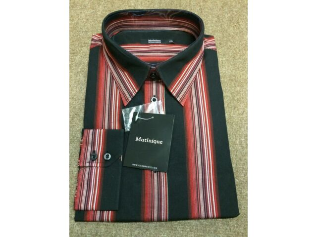 Matinique 'Dufby' Wide Striped Shirt/ Black - XX Large SLIM FIT