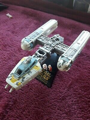 STAR WARS micro machines ACTION FLEET GOLD LEADER YELLOW Y-WING FIGHTER 1996