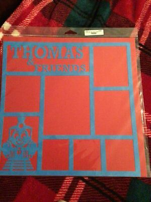 THOMAS THE TRAIN SCRAPBOOKING PAGE KIT (2) PAGES OVERLAY RARE RETAILED $12.50