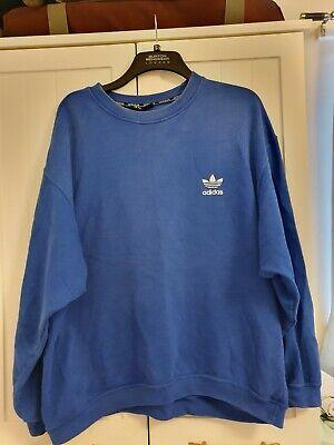 Vintage Blue ADIDAS Jumper/Sweatshirt XXL/2XL - Excellent quality! Vintage item!