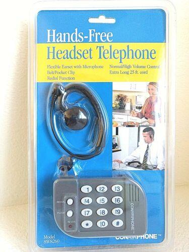 Conair Hands-Free Headset Telephone SW8260 NEW SEALED Belt Clip Microphone NIB