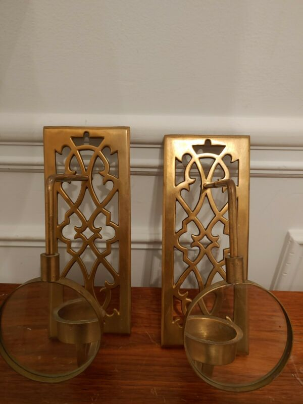 Brass Magnifying Glass Candle Wall Sconce