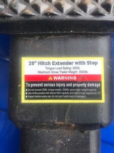 Hitch extender with step