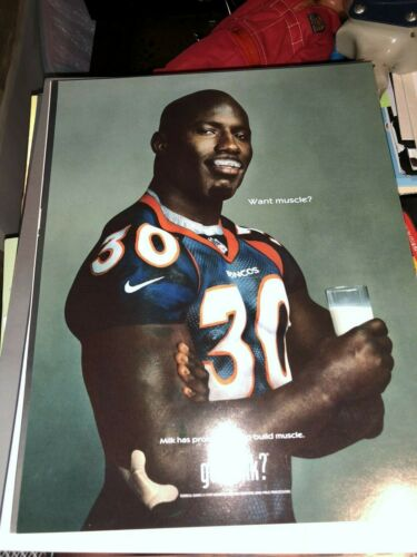 "Terrell Davis Got Milk? High quality 8""x10"" mini poster Promo Hall of fame"