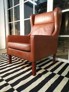 Stunning Danish Borge Morgensen Stouby Leather Armchair -Can Deliver