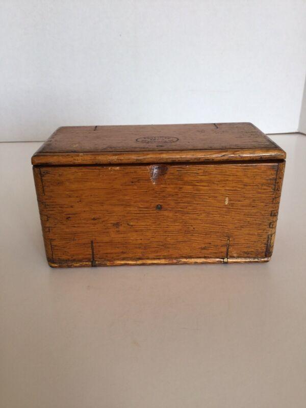 Vintage Antique Singer Sewing Machine Wooden Puzzle Box & Attachments