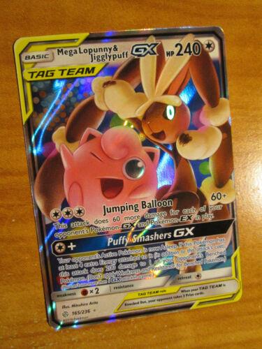 Mega Lopunny /& Jigglypuff Tag Team GX 165//236 Cosmic Eclipse Pokemon Card NM