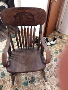 Antique Victoria wooden rocking chair