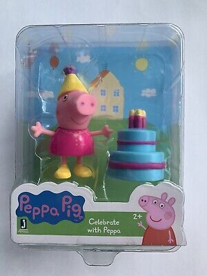 Peppa Pig Collect and Play Birthday Figure Set -CELEBRATE WITH PEPPA NEW