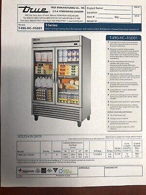 True T-49g-hc Commercial Reach-in Glass Swing Door Refrigerator