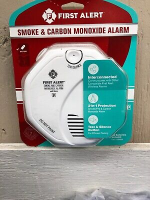 First Alert Smoke And Carbon Monoxide Detector Wireless Interconnected and